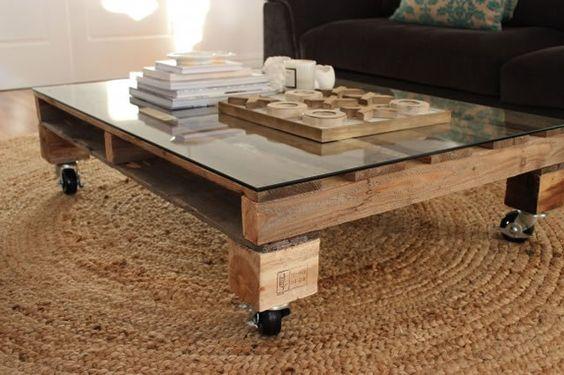 Table Basse Palette Et Verre Allovitres Le Blog Dco