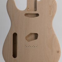 2-Piece Lefty Alder T-Style Unfinished Guitar Body