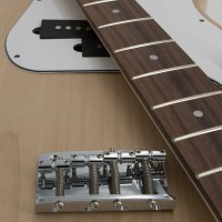 Silver P-Style Bass Guitar Kit