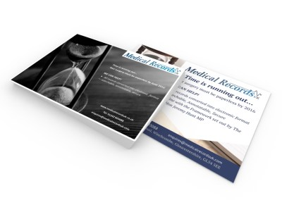 Advert design for medical record collation and pagination company