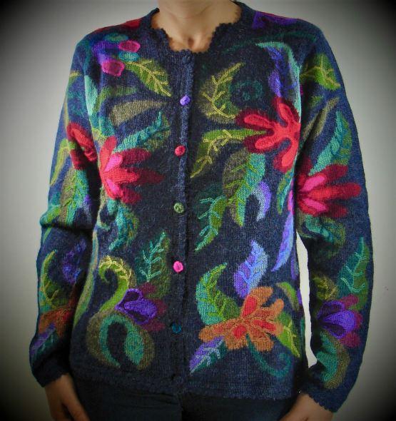 Cardigan Motifs floraux