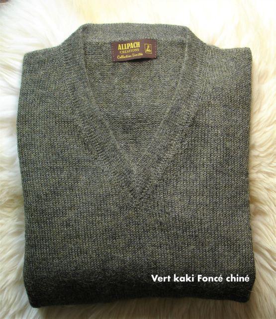 Pull à col V homme en laine
