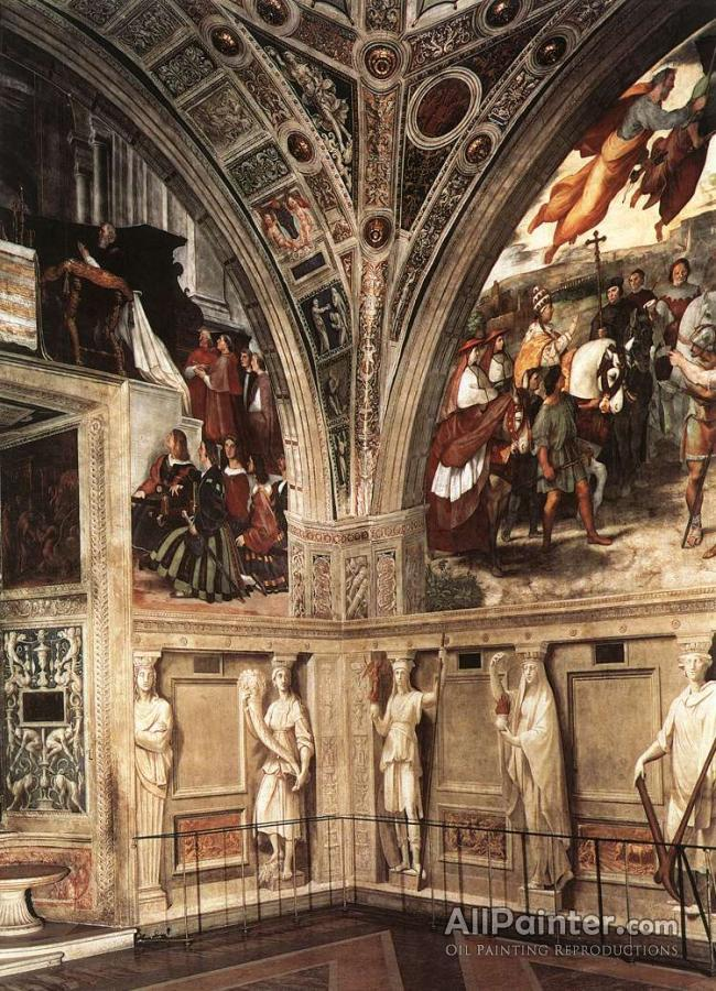 Raphael View Of The Stanza Di Eliodoro Oil Painting ...