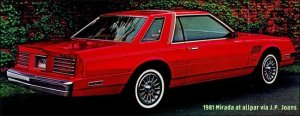 Dodge Mirada: neglected sporty coupe of the 1980s