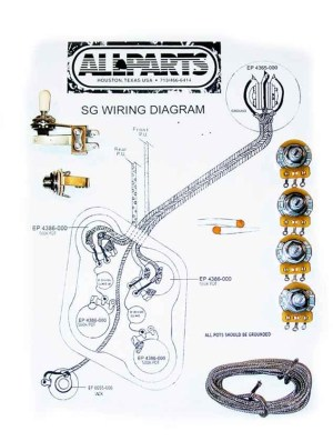 Wiring Kit for SG Guitars | AllpartsItalia
