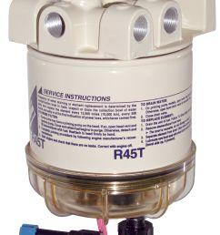 racor 645r 645r12 645r24 series diesel spin on filter separators w heater [ 1732 x 2760 Pixel ]