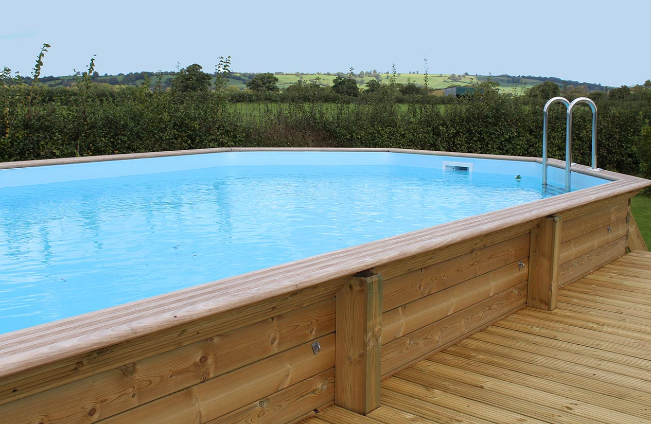 Wooden pools in somerset dorset wiltshire allpools and spas for Caravan sites in dorset with swimming pool