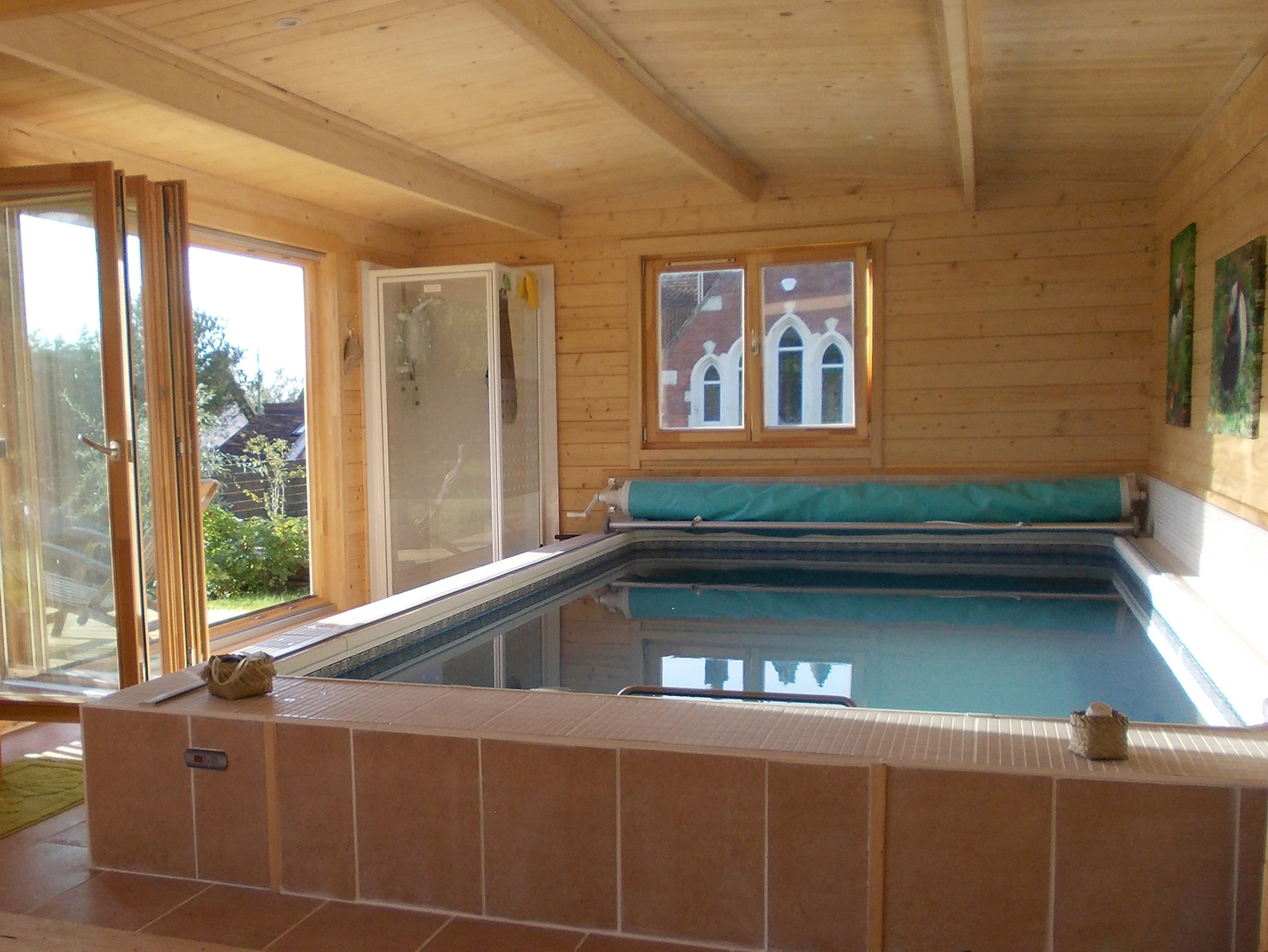 Endless Pool Cabin interior