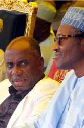 Gov. Amaechi and General Muhammadu Buhari, rtd