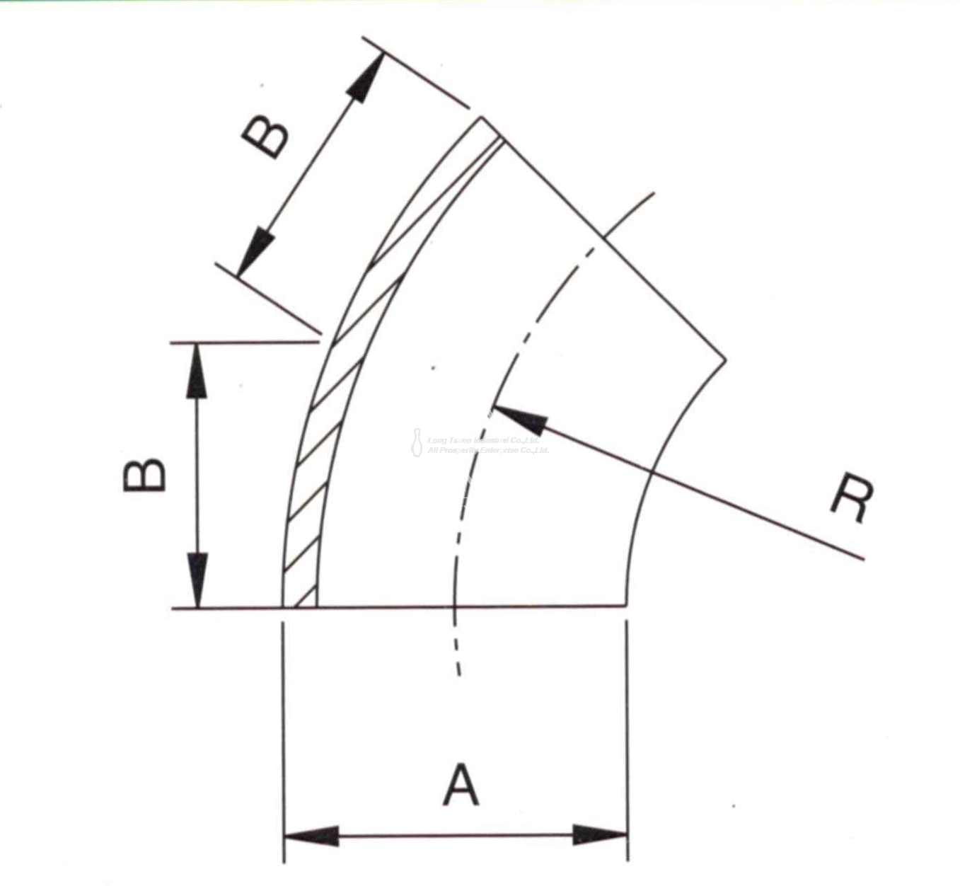 3a 2kw 45 Deg Elbow Short Radius