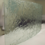 Curved glass Northern ireland Patterned Laminated Glass Curved Glass supplier ireland
