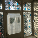 Decourative Glass design In Northern ireland sand blasted door glass and leaded lights Derry City stained glass