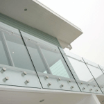 Outdoor architectural glass balustrades frameless glass ireland supplied and installed in Northern Ireland