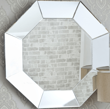 Made to measyre full length octagon decorative large glass for Octagon beveled mirror