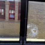 safety glass Laminated glass broken shop door glass vandalised door replacement glass and door hardware emergency glazing Northern Ireland
