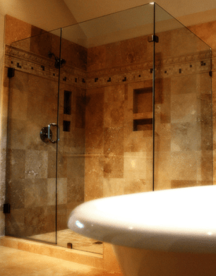 Custom made to measure any size  frameless shower enclosures in Belfast and northern ireland