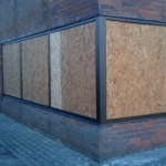 Donegal north west glass and glazing boarding up shop front glass made secure by glazier replacement shop from glass ireland