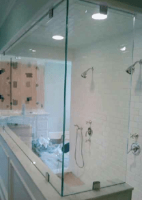 Framless Large  full glass shower wet room enclosure in northern ireland