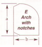 Arch with Notches Cut to size wood burner stove in Northern Ireland
