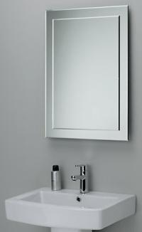 Decourative Bathroom Mirror Beveled Edge and decouative ...