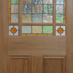 Deourative coloured glass leaded light for domestic internal doors lead lines and coloured glass designed and manufactured in derry city and northern ireland