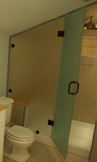 Loft conversion bathroom installation custom design of shower and glass enclosures in Northern ireland