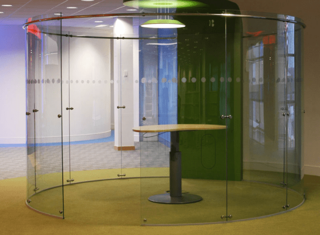 Office Fit Out Glass Curved Glass Cubicle Glass Acoustic