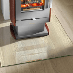 Clear Glass Fireplace protection floor pannel glass hearth fireplace floor protection toughen glass wood burning online UK and Ireland