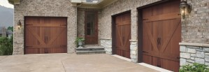 custom wood garage door installation in salt lake city utah