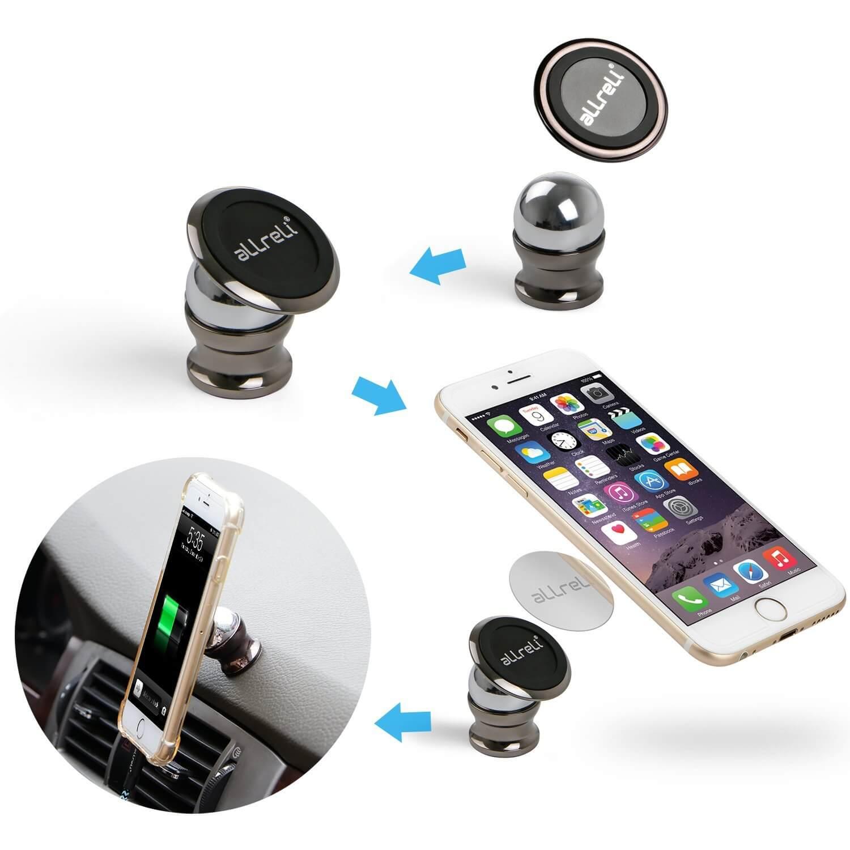 aLLreLi Universal Magnetic Car Cell Phone Mounts Holder
