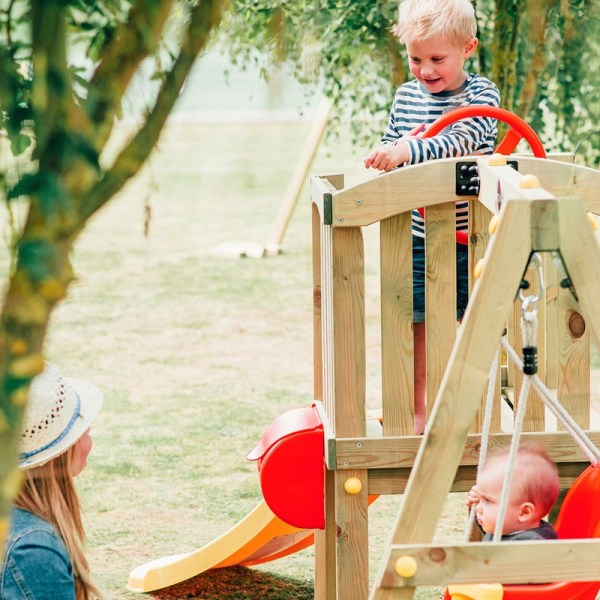 Plum Toddlers Tower Wooden Play Centre Outdoor Play Equipment