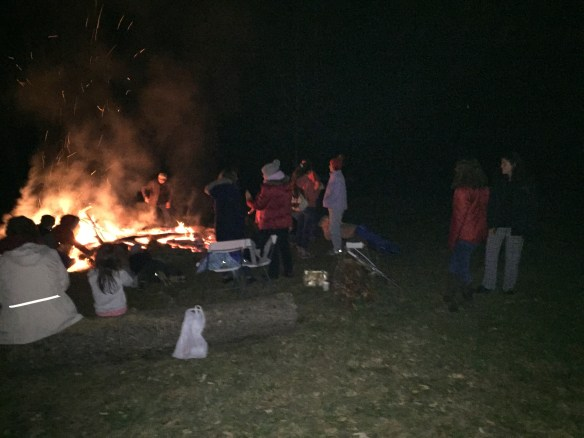 Everyone enjoys a fire