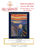 Announcements 1.28.2018 Epiphany 4 Annual meeting