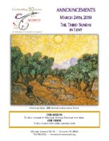Announcements 03.24.2019 Lent 3