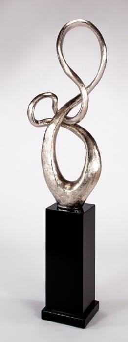 Modern Floor Sculpture Silver ArtmaxAllItems AD1087