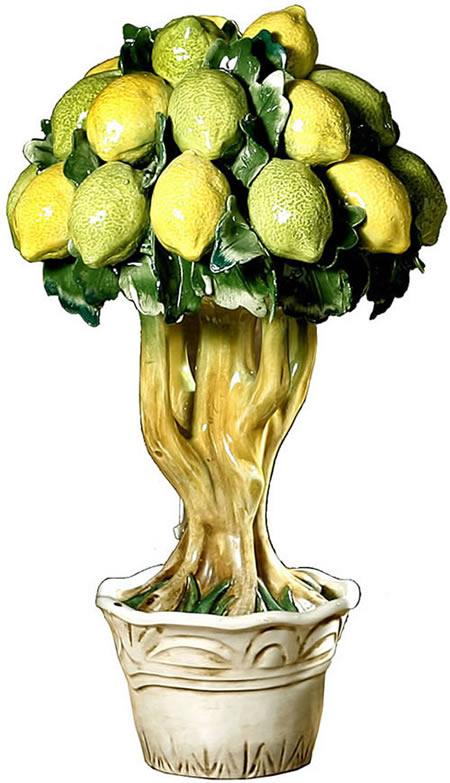 Ceramic Lemon Tree Sculpture Intrada Tut9208