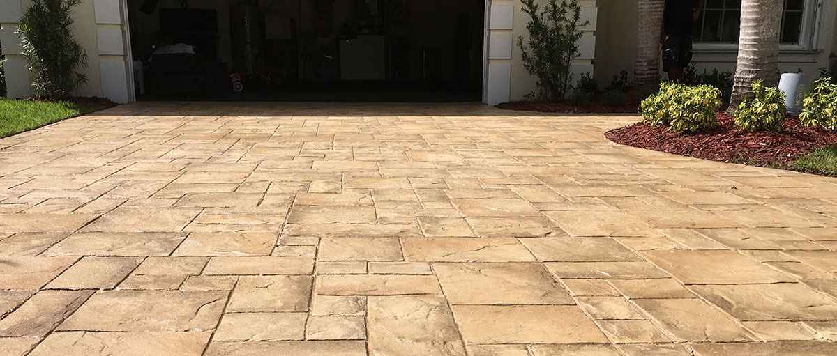 stamped concrete all seal exteriors