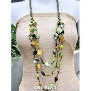fashion necklaces glass beaded