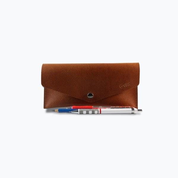 กระเป๋าใส่เครื่องเขียน แว่นตา Semolina Pencil Case - สีน้ำตาลเข้ม