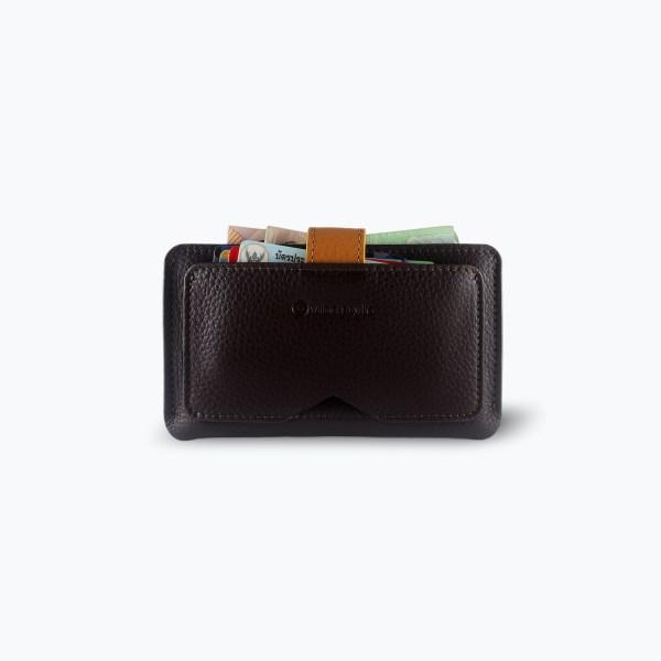 กระเป๋าสตางค์ Vega Wallet Card Case - สีน้ำตาลเข้ม