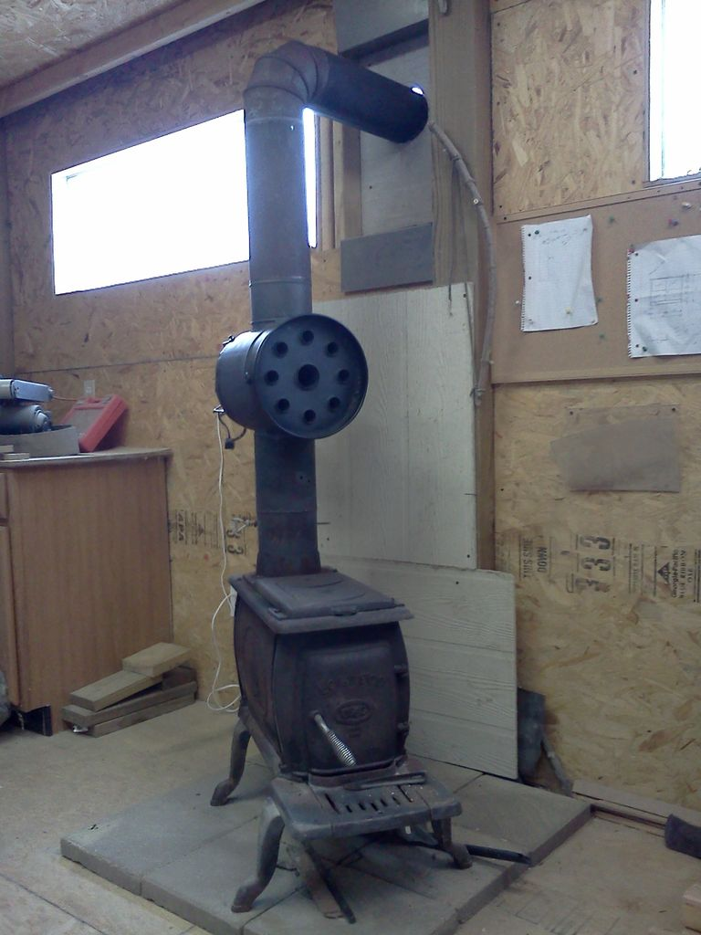 D I Y Woodstove Heat Exchanger All Self Sustained