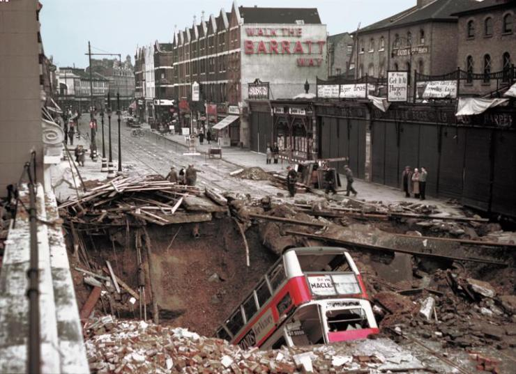 """During 1940's Battle of Britain, Luftwaffe bombers tried to destroy British air power ahead of a planned invasion of the UK. When that failed, Hitler resorted to terror attacks on civilians, including the full-scale bombing of London (pictured) and other English towns. The attacks killed tens of thousands of Britons, but """"The Blitz"""" fizzled: the invasion never materialized."""