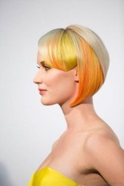 yellow color short hairstyles