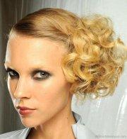 stylish short updo hairstyle