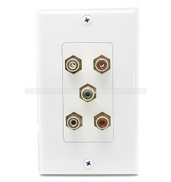 home wall plates speaker wall plate 5 port rca jack connector home theater system wall plate for usa [ 1500 x 1500 Pixel ]