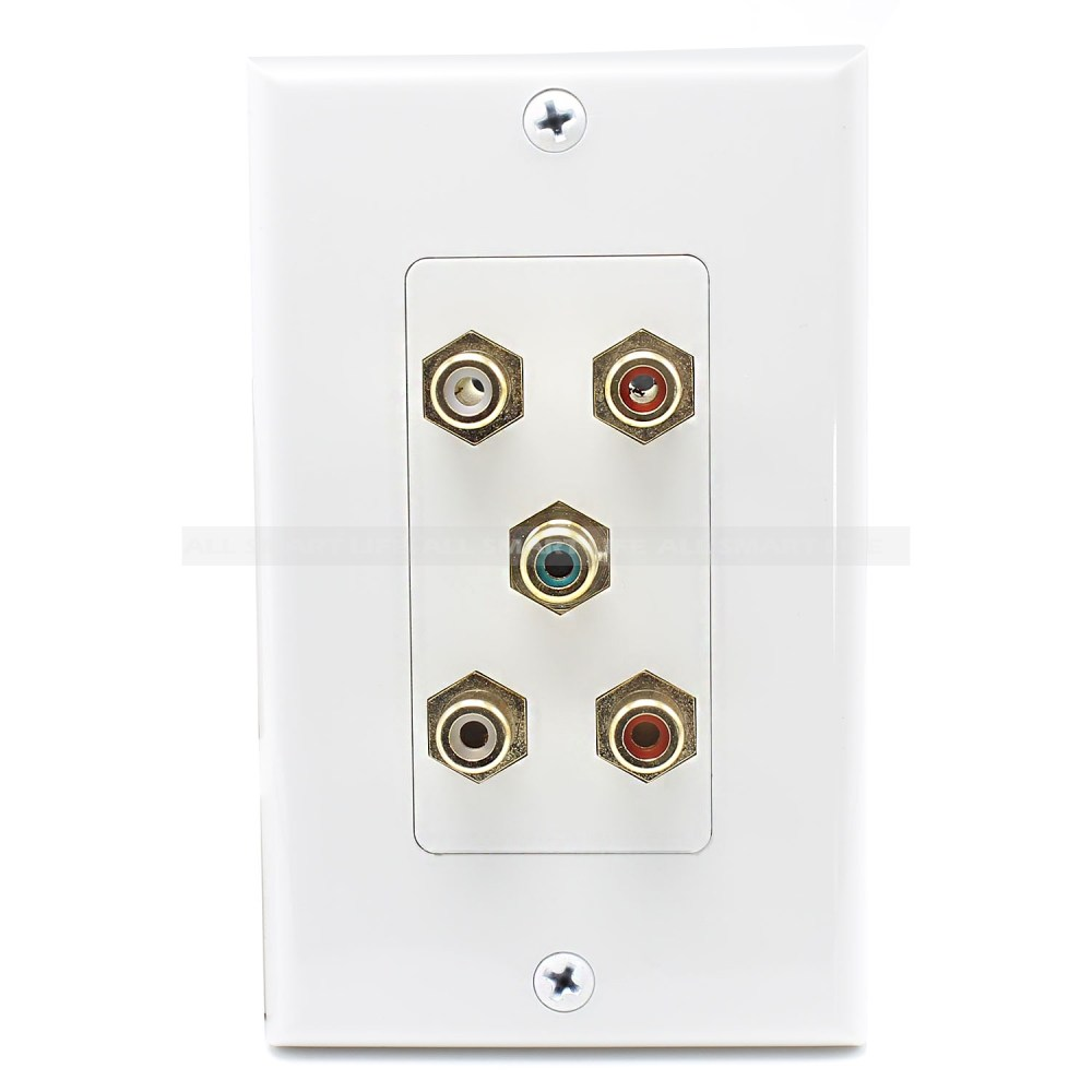 medium resolution of home wall plates speaker wall plate 5 port rca jack connector home theater system wall plate for usa