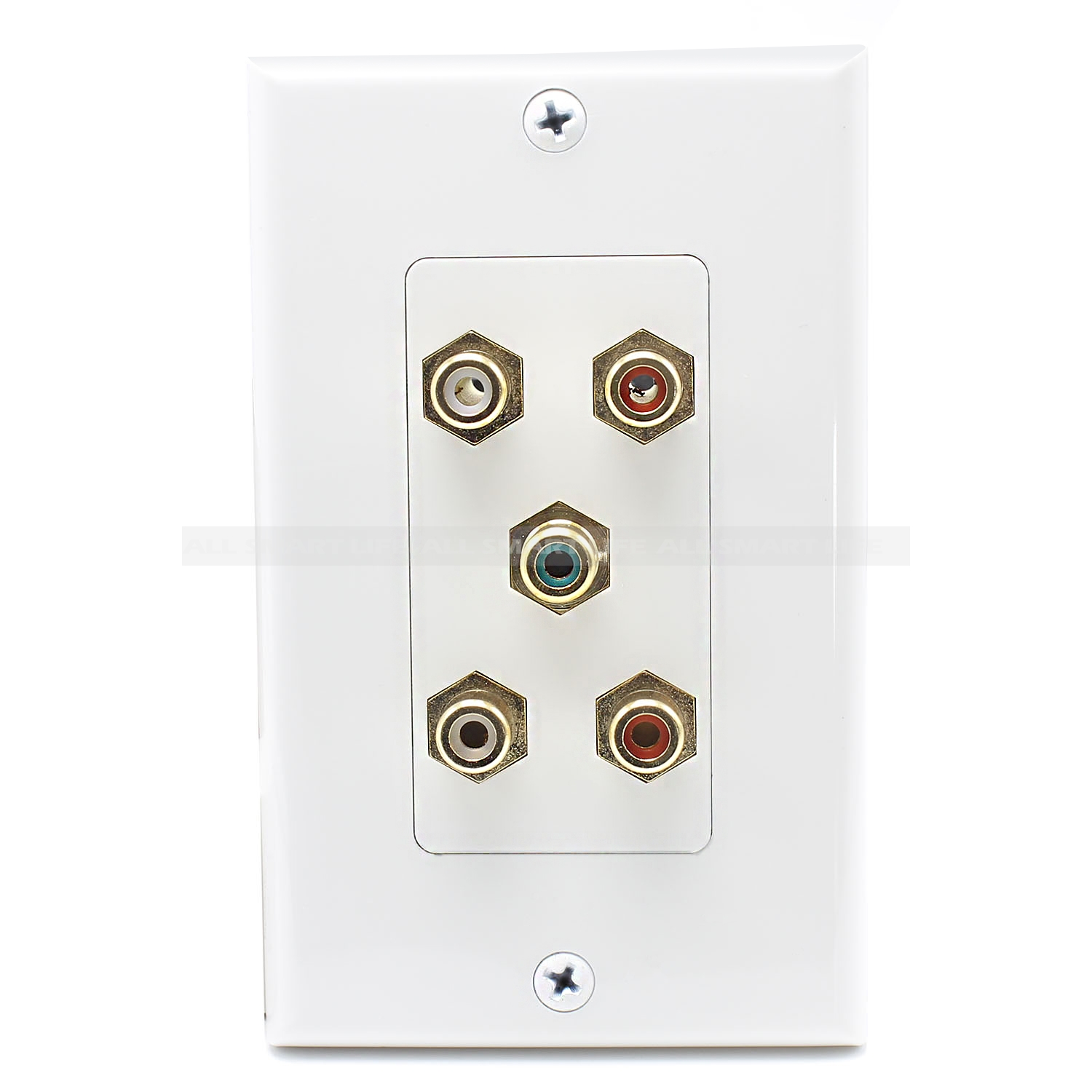 hight resolution of home wall plates speaker wall plate 5 port rca jack connector home theater system wall plate for usa