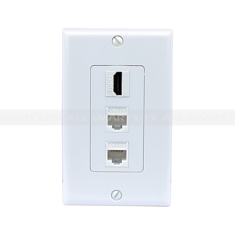 cat5e wiring diagram wall socket s10 wiper motor combination design 1 port hdmi 2 ethernet decora plate