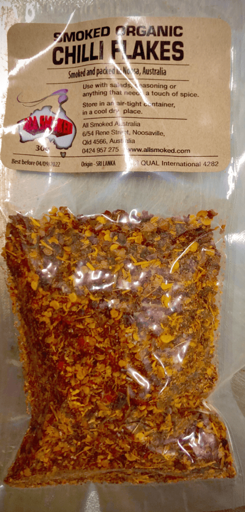 Smoked Organic Chilli Flakes 30g