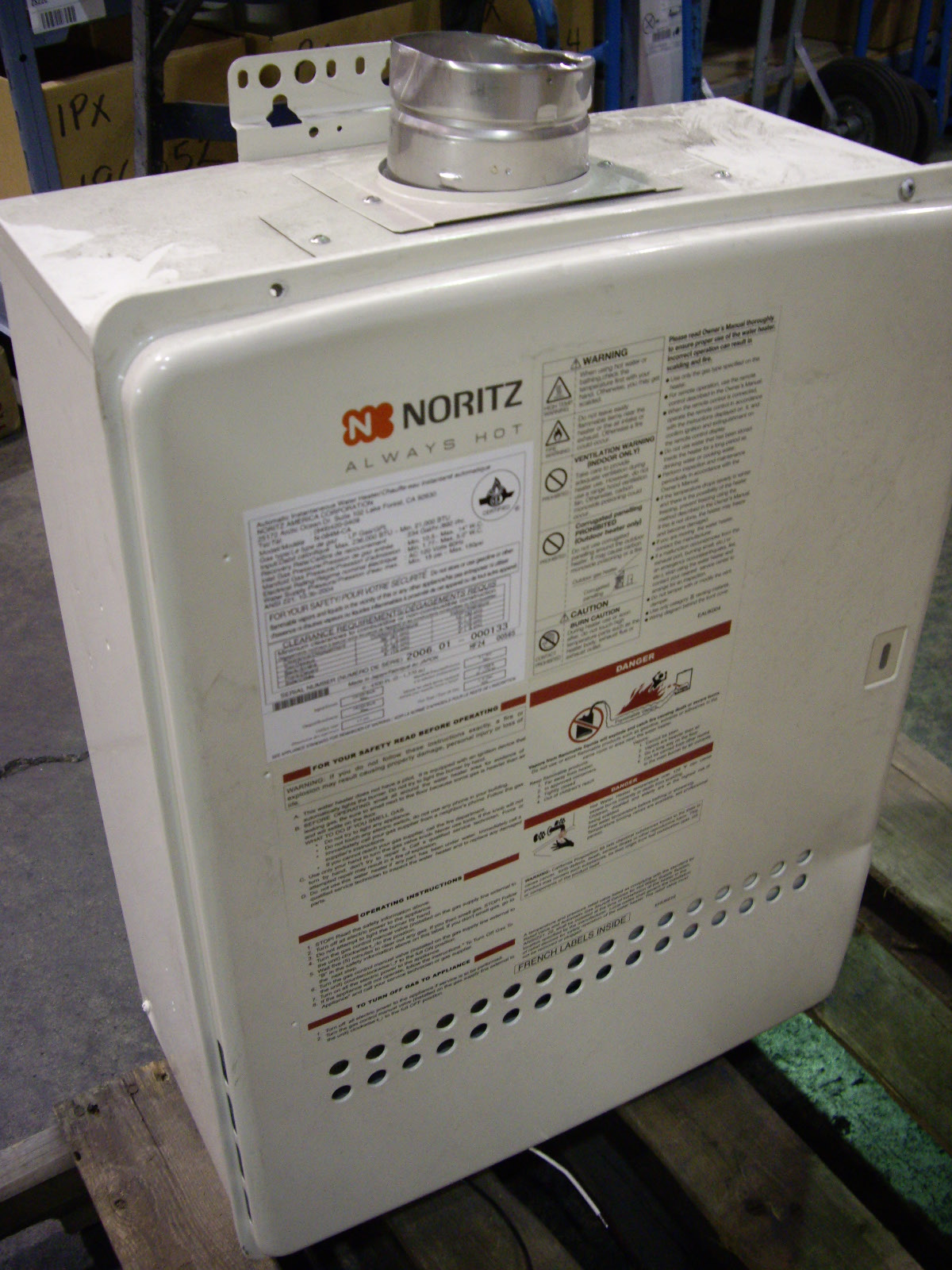 Noritz Tankless Water Heater Propane  Allsoldca  Buy